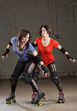 Serious Roller Derby Skaters