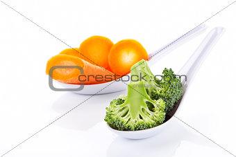 Broccoli and carrots.