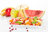 Delicious tropical fruit salad.