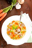 Luxurious homemade vegetable soup.