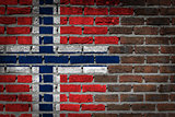 Dark brick wall - Norway