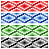 Set of four seamless rhombic patterns