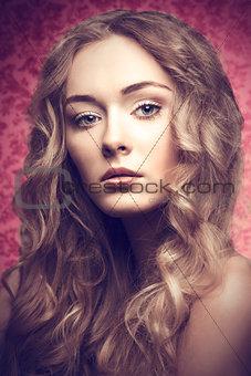 Blonde beautiful girl