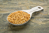 spoon of gold flax seeds