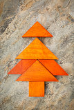 tangram Christmas tree