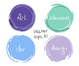 Circle paint drop set