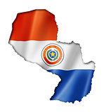 Paraguayan flag map