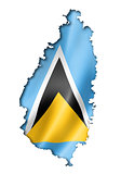 Saint Lucia flag map