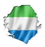 Sierra Leone flag map