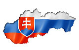 Slovakian flag map