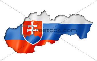 Slovakian flag map