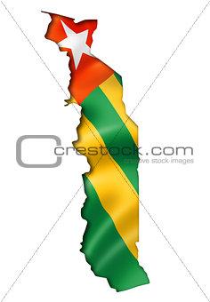 Togo flag map