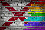 Dark brick wall - LGBT rights - Alabama