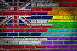 Dark brick wall - LGBT rights - Hawaii