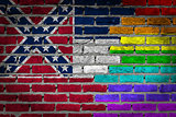 Dark brick wall - LGBT rights - Mississippi