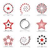 Stars set.  Design elements.