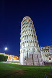 Pisa leaning tower at dawn