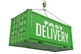 Fast Delivery - Green Hanging Cargo Container.