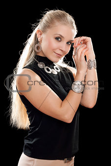 Portrait of sensual young blonde