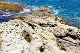 Rocky coastline detail