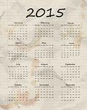 Paper calendar 2015