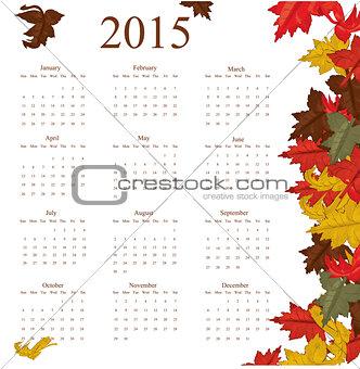 2015 year calendar