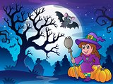 Scenery with Halloween character 4