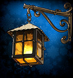 lantern in the winter night