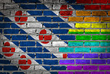 Dark brick wall - LGBT rights - Friesland