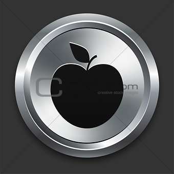Apple Icons on Metallic Button Collection