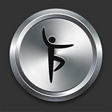 Ballet Icon on Metallic Button Collection
