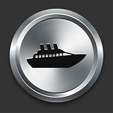 Boat Icon on Metallic Button Collection