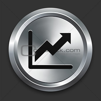 Chart Icon on Metallic Button Collection