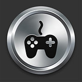 Controller Icon on Metallic Button Collection