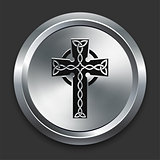 Cross Icon on Metallic Button Collection