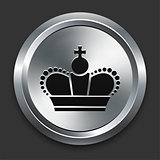 Crown Icon on Metallic Button Collection