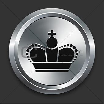 Crown Icon on Metallic Button Collection