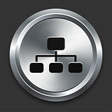 Diagram Icon on Metallic Button Collection