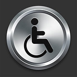 Disabled Icon on Metallic Button Collection