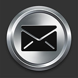 Envelope Icon on Metallic Button Collection