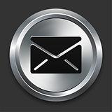 Envelope Icon on Metallic Button Collection