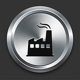 Factory Icon on Metallic Button Collection