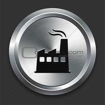 Factory Icon on Metallic Button Collection