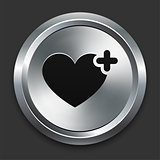 Favorite Icon on Metallic Button Collection