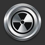 Hazard Icon on Metallic Button Collection
