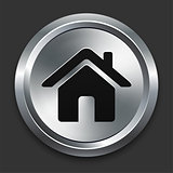 House Icon on Metallic Button Collection