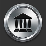 Justice Icon on Metallic Button Collection