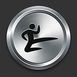 Karate Icon on Metallic Button Collection