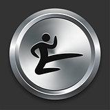 Karate Icon on Metallic Button Collection