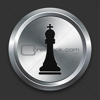 King Icon on Metallic Button Collection